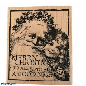 Rubber Stamp Merry Christmas To All & To All